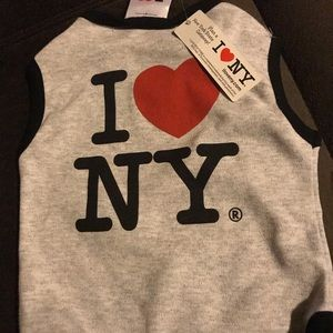 Medium I love NY dog shirt